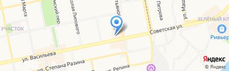 Бийск на карте Бийска