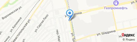 Пивная №1 на карте Бийска