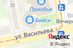 Схема проезда до компании Русский фейерверк в Бийске