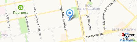 Мастерская по полировке кузова на Первомайской на карте Бийска