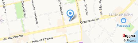 Киоск по продаже фастфудной продукции на карте Бийска