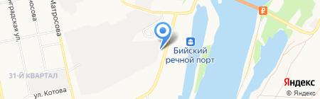 Баня на Набережной на карте Бийска