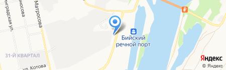Ангара на карте Бийска
