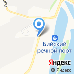 Суворов на карте Бийска