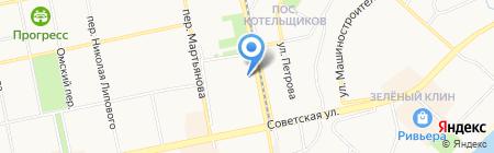 Автомойка на Трофимова на карте Бийска