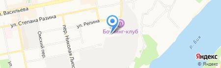 Ручеек на карте Бийска