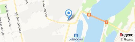 Аникс на карте Бийска