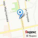 Магазин отечественных автозапчастей на карте Бийска