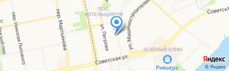 Селена на карте Бийска