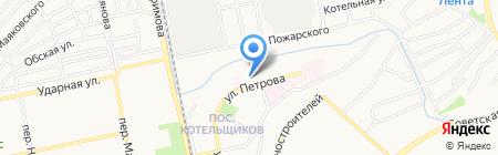 Секонд-хенд на ул. Петрова на карте Бийска