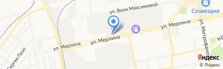 Алтайские фейерверки на карте Бийска