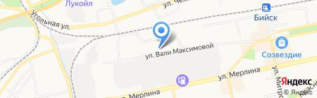Детский сад №91 на карте Бийска