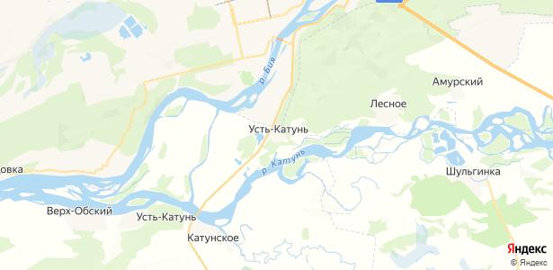 Усть-Катунь на карте