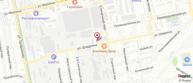Карта расположения пункта доставки Бийск в городе Бийск