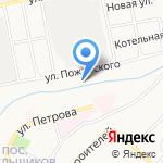 Гаражно-строительный кооператив №13 на карте Бийска