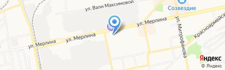 Апельсин на карте Бийска
