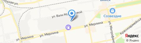 Байт-Транзит-Континент на карте Бийска