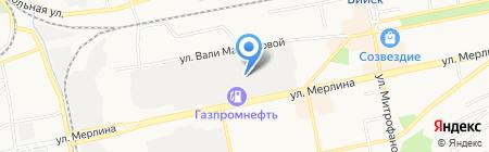 Сто грузовиков на карте Бийска
