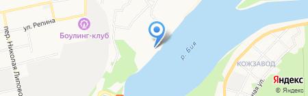 Берег на карте Бийска
