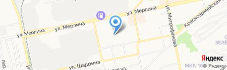 Поликаст на карте Бийска