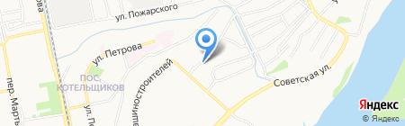 Склад-магазин на Стахановской на карте Бийска