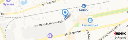 Привокзальное на карте Бийска