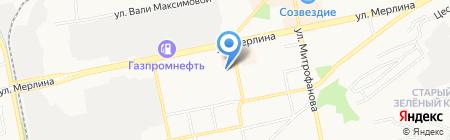 Восток на карте Бийска
