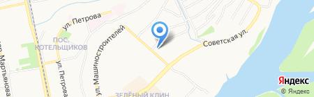 Линолеум на карте Бийска