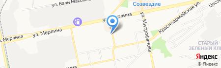 Таймень на карте Бийска