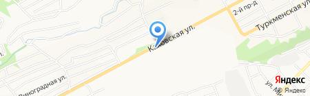 Автостоянка для грузовых автомобилей на карте Бийска