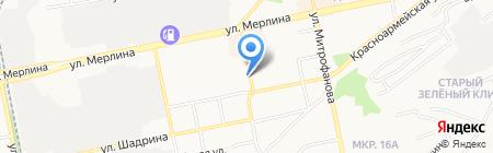 Черемушки-2 на карте Бийска