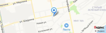 Уютыч на карте Бийска