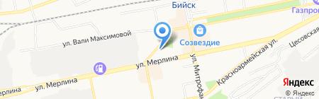 Семена Алтая-Бийск на карте Бийска