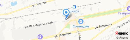 Поддержка на карте Бийска