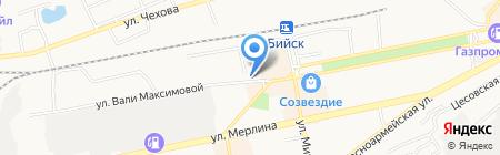 Закусочная на ул. Вали Максимовой на карте Бийска
