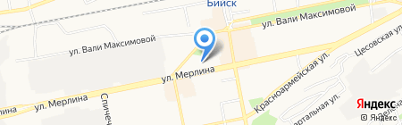 Салон ритуальных услуг на ул. Мерлина на карте Бийска