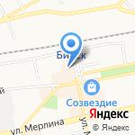 Автовокзал на карте Бийска