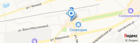 Финтерра на карте Бийска