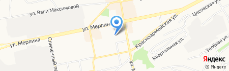 Детский сад №17 на карте Бийска