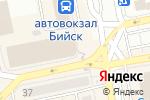 Схема проезда до компании Семь новостей в Бийске