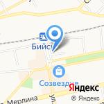 Дэнта на карте Бийска