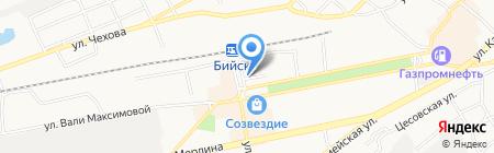 Дента на карте Бийска