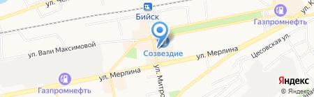 Магазин трикотажных изделий на карте Бийска