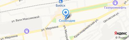 Магазин верхней мужской одежды на карте Бийска