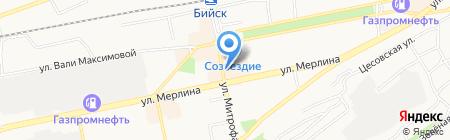 Настёнка на карте Бийска