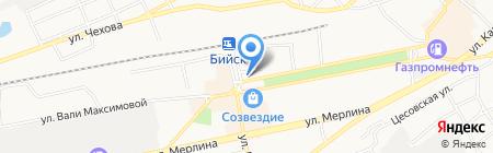 Строитель на карте Бийска