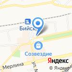 Банк ВТБ 24 на карте Бийска