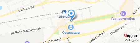 Бэмби на карте Бийска