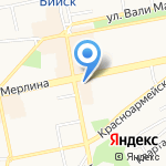 Почтовое отделение №3 на карте Бийска
