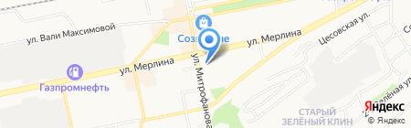 Виктория Hotel на карте Бийска